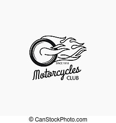 klub, mono, motocykl, kolor, logotype