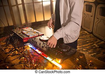 klub, musik, dj, spielende , party