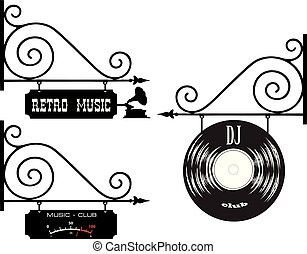 klub, muzyka, didżej, retro
