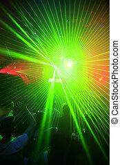 klub, partia, tło, noc
