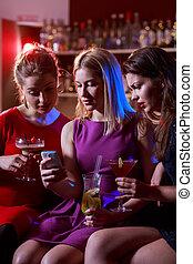 klub, selfie, friends