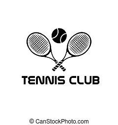 klub, tenis, ilustracja