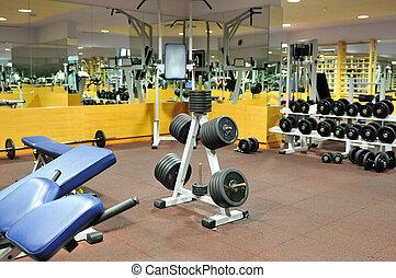 klubba, fitness, gymnastiksal