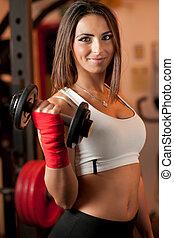 Klubba, flicka,  fitness