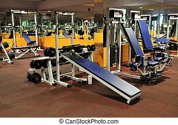 klubba, gymnastiksal, fitness