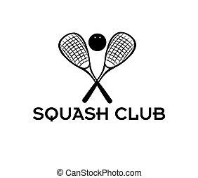 klubba, squash, illustration