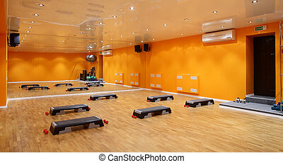 klubba, stor, tom, fitness
