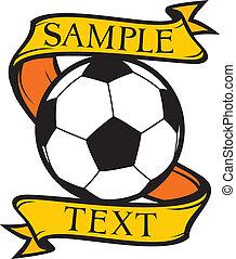 klubba, symbol, fotboll, (soccer)
