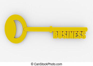 klucz, do, pomyślny, handlowy