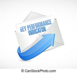 klucz, spełnienie, indykator, email, ilustracja