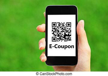 klug, coupon, qr, code, telefon