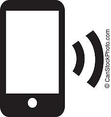 klug, telefon, radio, ikone, app