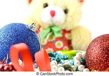 klumpa ihop sig, sätta, år, inbjudan, färsk, julkort