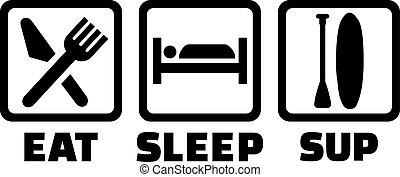 klunk, sömn, äta, ikonen
