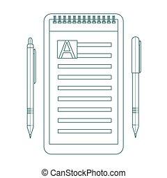 klus, controlelijst, lijst, lijst, list., ontwerp, icon., omtrek, pictogram