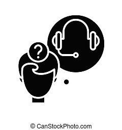 klus, teken., black , plat, pictogram, illustratie, audio, symbool, concept, vector, glyph