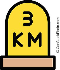 km vector color line icon