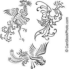 kmenový ptáci, ilustrace