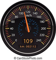 KMH Kilometers per Hour Speedometer Odometer Automotive...