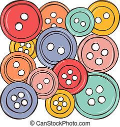 knäppas, färgad, illustration