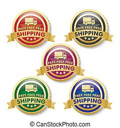 knäppas, gyllene, 5, gratis, skeppning