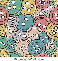knäppas, mönster, färgad, illustration, seamless