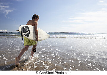 knaben, surfen