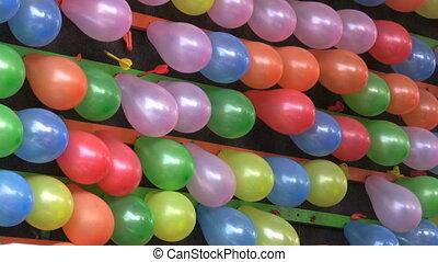 knallen, luftballone, an, a, kirmes