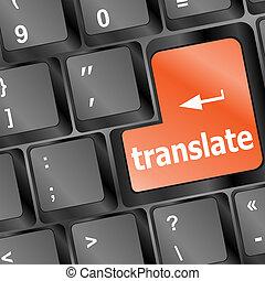 knap, oversæt, klaviatur