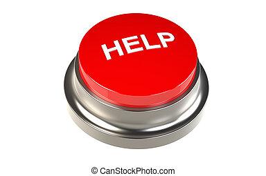 knapp, för, hjälp