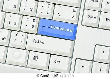 knapp, kontakt oss