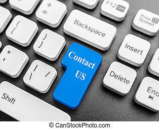 knapp, kontakt oss, tangentbord