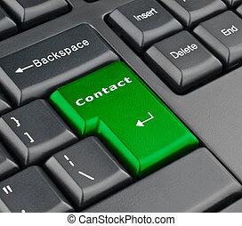 knapp, kontakta, tangentbord