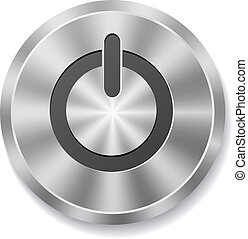 knapp, metall, runda, energi