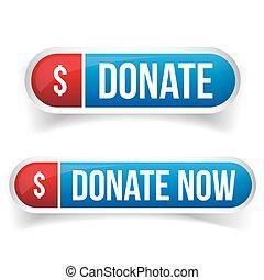 knapp, nu, donera