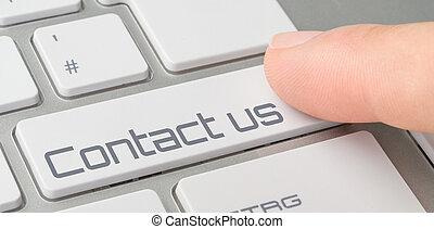 knapp, -, oss, märkt, kontakta, tangentbord