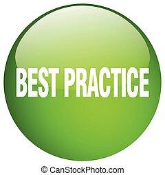 knapp, praktik, isolerat, grön, trycka, runda, bäst, gel