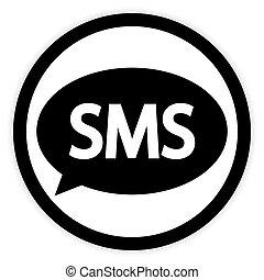 knapp, sms, white.