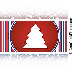knapp, träd, den, jul