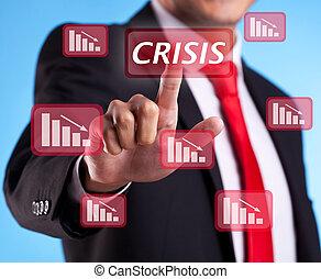 knapp, tränga, kris, affärsman