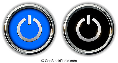 knapper, magt, iconerne