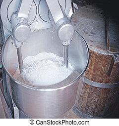 Kneading the dough - kneading the dough with a robot