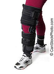 Knee brace - Leg with knee brace