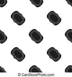 knee pad. Paintball single icon in black style vector symbol stock illustration web.