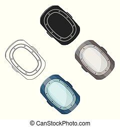 knee pad. Paintball single icon in cartoon style vector symbol stock illustration web.