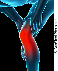 knee pain - medically accurate 3d illustration of knee pain