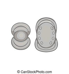 Knee protector and elbow pad icon