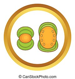 Knee protector and elbow pad vector icon