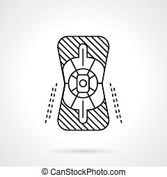 Knee protector flat line vector icon