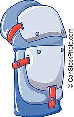 Knee protector icon, cartoon style